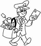 Coloring Postman Mailman Kleurplaten Beroepen Postbode Juf Milou Kleurplaat Printable Dibujos Colorear Thema Tekeningen Oficios Profesiones Brieven Eminem Om Colouring sketch template