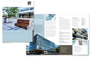 Work Sheets Templates Architect Brochure Template Design