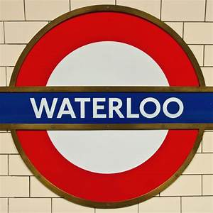 Waterloo underground station sign - License for £6.20 on ...