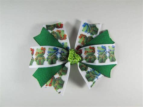 ninja turtle hair bow  kitty inspired
