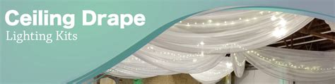 ceiling drape kit wedding ceiling drapes with lights event decor direct