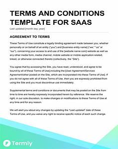 free terms conditions templates downloadable samples With term and condition template