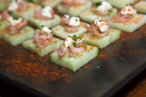 easy canapes and nibbles easy cucumber and brown shrimp canapes nibbles