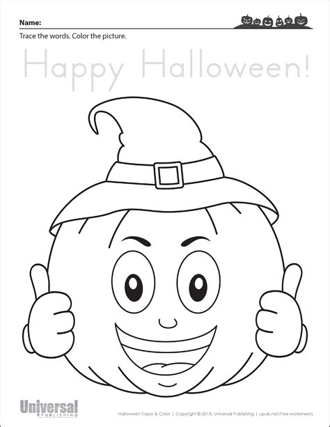 halloween activities  printables universal publishing