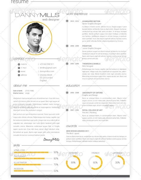 Resume Portfolio by Awesome Resume Cv Templates 56pixels
