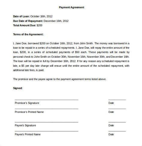 payment plan agreement template word related keywords suggestions for monthly payment plan letter