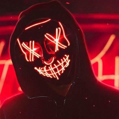 Neon Mask 4k Guy Wallpapers Anonymous Desktop