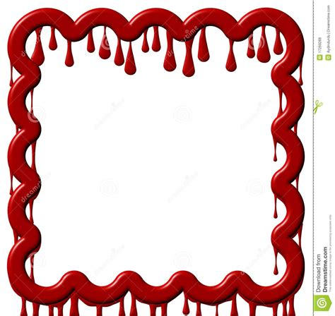 Halloween Border Clip Art by Frame Dripping Red Paint Royalty Free Stock Images Image
