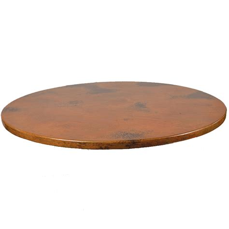 mathews company copper table top round 80310