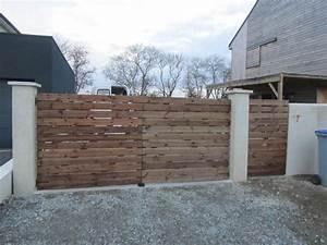 Portail En Bois : comment fabriquer un portail en bois patios fences and gate ~ Premium-room.com Idées de Décoration