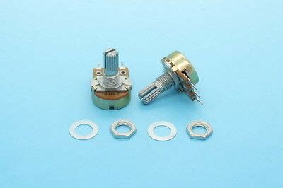 2 x 9mm alps a10k 10k audio taper dual potentiometer with switch knurled shaft 9 99 picclick