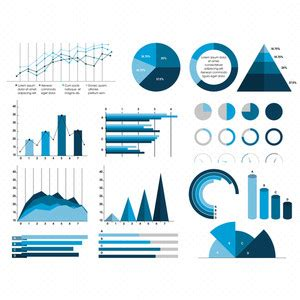 set   statistical charts  graphs infographic