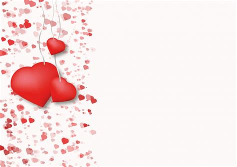 gambar daun bunga cinta jantung merah percintaan