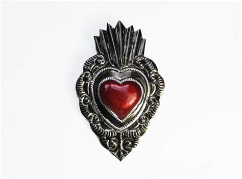 Get up to 70% off now! Buy Handmade Mexican Tin Heart Wall Plaques At Viva Oaxaca ...