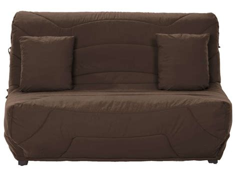 dimension canapé bz couette bz 140cm coloris chocolat conforama pickture