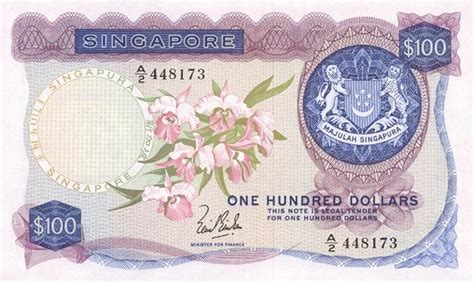 100 Singapore Dollars (orchids Series)