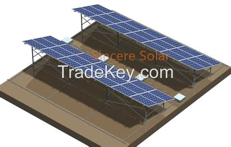 cement flat roof solar mounting system tile roof solar