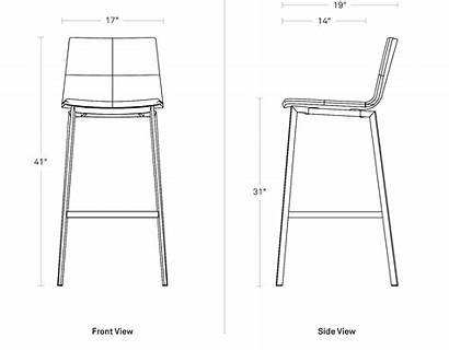 Barstool Between Dimensions Chair Blu Dot Modern