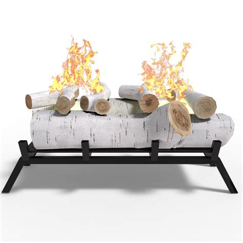 Elite Flame 18 Inch Birch Convert To Ethanol Fireplace Log