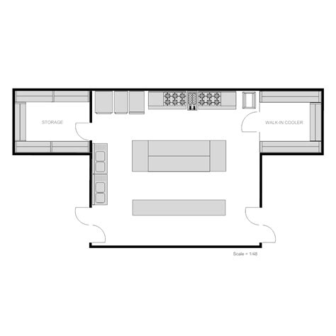 cafe kitchen floor plan restaurant kitchen plan 5086