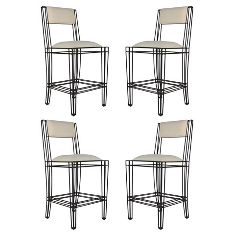 Counter Height Bar Stools Set Of 4 by Black Iron Counter Height Stools Set Of 4 Chairish