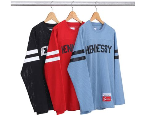 hennessy  supreme football jersey top freshness mag