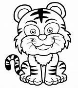 Tiger Coloring Tigers Pages Printable Children Funny Smiling Animals Coloriage Dessin Colorier Re Coloringbay Justcolor Depuis Ius Enregistree Tech sketch template