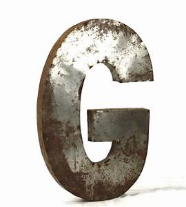 industrial rustic metal large letter g 36quoth ebay With metal letter g