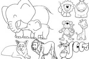 Baby Jungle Animals Coloring Pages