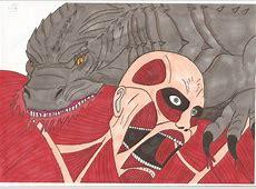 Attack on Titan Godzilla vs Colossal Titan by