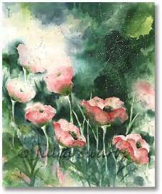 Color Flower Paintings Watercolor