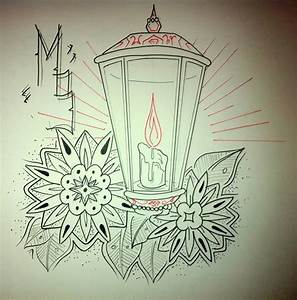 60 Outstanding Candle Lantern Tattoo Designs And Pictures ...