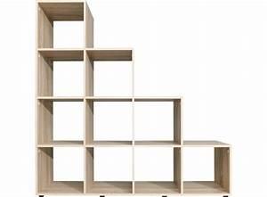 etagere escalier 10 cases chene fly With porte de douche coulissante avec accessoire salle de bain transparent