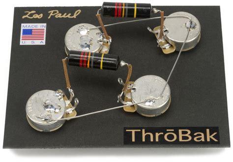 Les Paul Wiring Harness Throbak Style Kit For