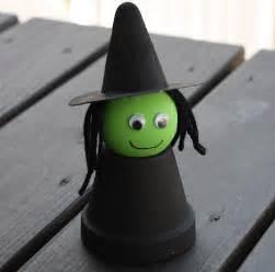 Preschool Crafts For Kids* Halloween Flower Pot Witch Craft