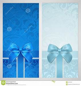 Blank Christmas Invitation Background Voucher Gift Certificate Coupon Boxes Bow Stock Vector