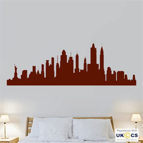 new york city skyline cool living room wall stickers