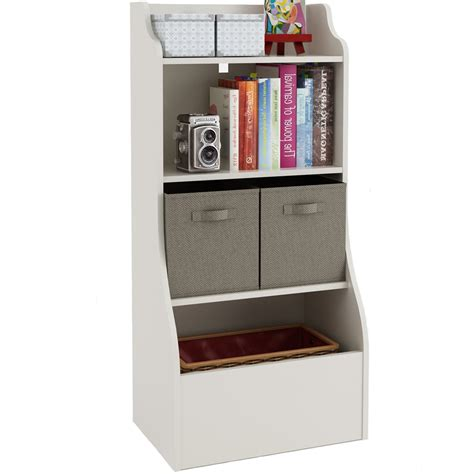organizer with bookshelf bookcase storage bin in furniture