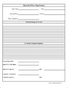Free Employee Write Up Form