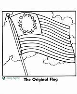 Flag American Coloring Printable Pages Below sketch template