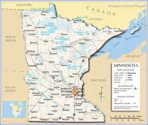 mn road map map of minnesota