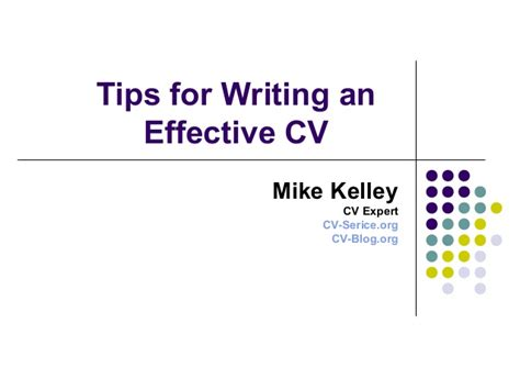 tips for writing an effective tips for writing an effective cv