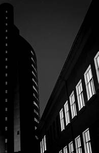 Night Building Abstract In Black And White Photograph by ...