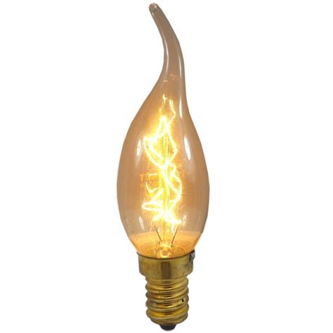 25 watt ses e14mm tip antique candle light bulb