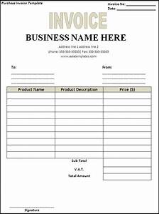Purchase invoice template hardhostinfo for Buy invoice template