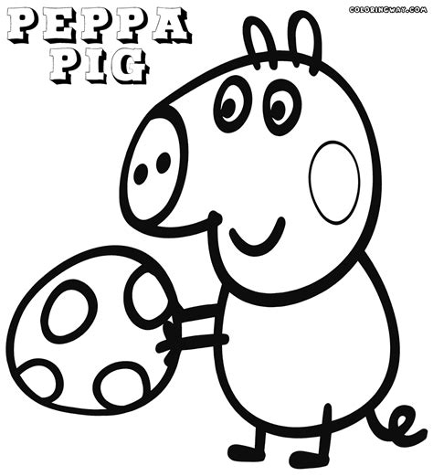 Peppa Pig Coloring Pages Free download on ClipArtMag