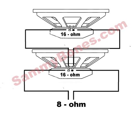 speaker  ohm wiring diagram