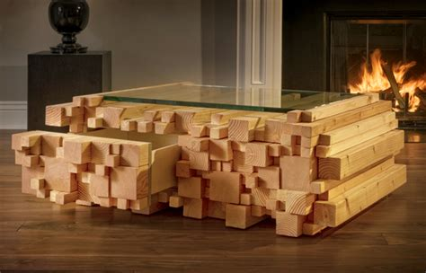 Der Couchtisch Aus Holzunique Stacked Wood Coffee Table Apartment Singel Interior by Coffee Table That Looks Like An Unevenly Stacked Pile Of