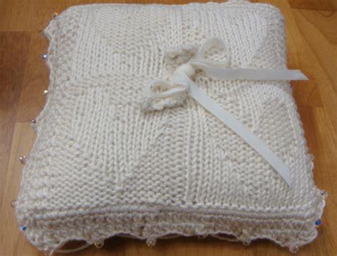 heirloom knitting the ring bearer s pillow where craft creates community