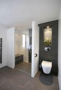 idee decoration salle de bain jolie salle de bain blanc With salle de bain sol gris
